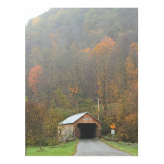 Puente cubierto Tunbridge Vermont de Cilly Postal