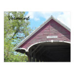 Puente cubierto Vermont de Sanborn Tarjeta Postal
