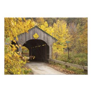 Puente cubierto, Vermont, los E.E.U.U. 2 Arte Fotografico