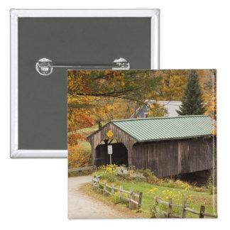 Puente cubierto, Vermont, los E.E.U.U. Pin Cuadrado