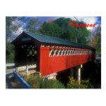 Puente cubierto Vermont Tarjetas Postales