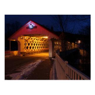 Puente cubierto Winchester NH de Ashuelot en la Tarjetas Postales