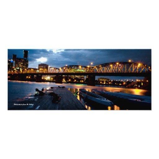 puente de 11 de x 26 Hawthorne en la noche Impresión Fotográfica