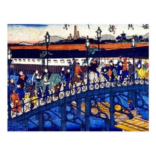 Puente de acero en Higashibori, Osaka por Osaka, Tarjeta Postal