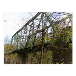 Puente de acero viejo postal