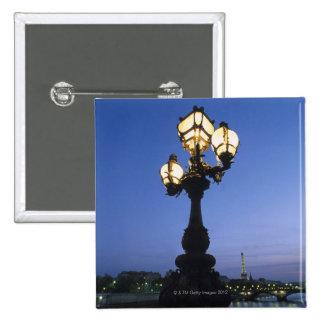 Puente de Alejandro III en París Pin Cuadrada 5 Cm