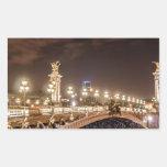 Puente de Alexander 3 en París Francia en la noche Rectangular Altavoces