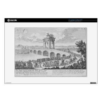Puente de Augustus encendido vía Flaminia, cerca d Calcomanía Para 38,1cm Portátil