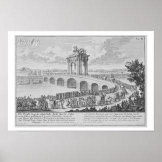 Puente de Augustus encendido vía Flaminia, cerca d Impresiones