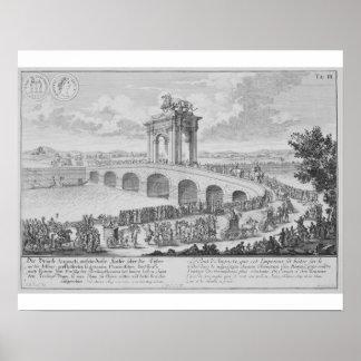 Puente de Augustus encendido vía Flaminia, cerca d Poster