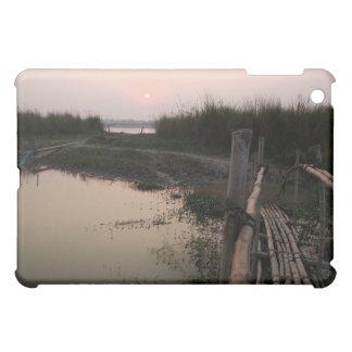 Puente de bambú el Ganges Bengala Occidental la