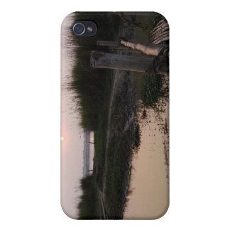 Puente de bambú el Ganges Bengala Occidental la iPhone 4 Fundas