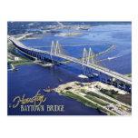 Puente de Baytown, canal de la nave de Houston, Te Tarjeta Postal