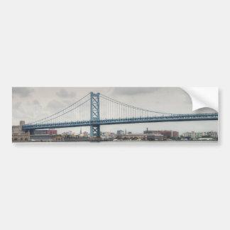 Puente de Ben Franklin Etiqueta De Parachoque
