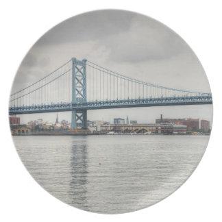 Puente de Ben Franklin Plato Para Fiesta