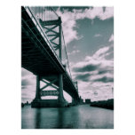 Puente de Ben Franklin Póster