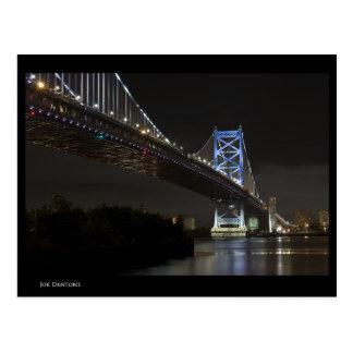 Puente de Ben Franklin Tarjeta Postal