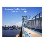 Puente de Benjamin Frankling Tarjetas Postales