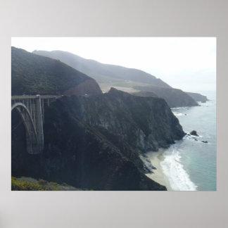 Puente de Bixby carretera 1 en California Impresiones