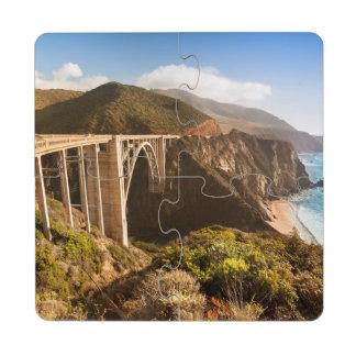 Puente de Bixby, Sur grande, California, los Posavasos De Puzzle