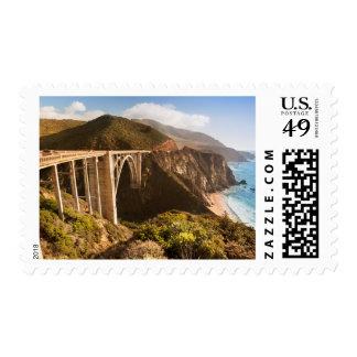 Puente de Bixby, Sur grande, California, los Timbres Postales