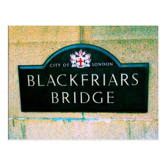 Puente de Blackfriars - ciudad de Londres Postales