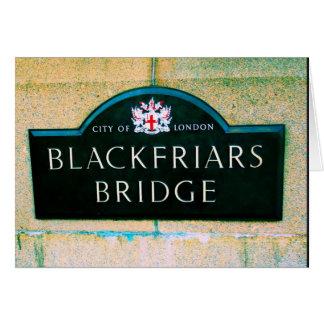 Puente de Blackfriars - ciudad de Londres Tarjeta De Felicitación