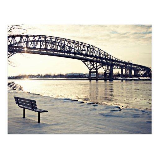 Puente de Bluewater en Sarnia, Ontario Tarjeta Postal