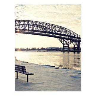 Puente de Bluewater en Sarnia, Ontario Tarjetas Postales