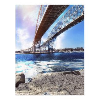 Puente de Bluewater Tarjeta Postal