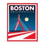 Puente de Boston Zakim Tarjetas Postales