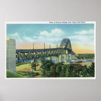 Puente de Bourne sobre la opinión del canal de Cap Posters