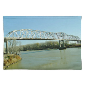 Puente de braguero del hierro manteles individuales