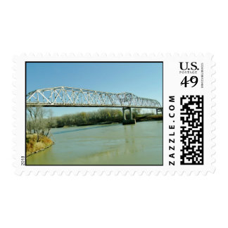 Puente de braguero del hierro sello postal