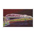 Puente de braguero sobre el río Missouri Impresiones De Lienzo