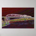 Puente de braguero sobre el río Missouri Poster