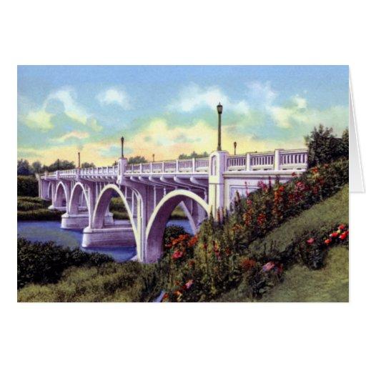 Puente de Brainerd Minnesota sobre Mississippi Tarjetón
