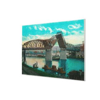 Puente de Broadway sobre el río de Willamette Impresión En Lona