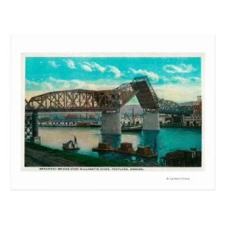 Puente de Broadway sobre el río de Willamette Tarjetas Postales