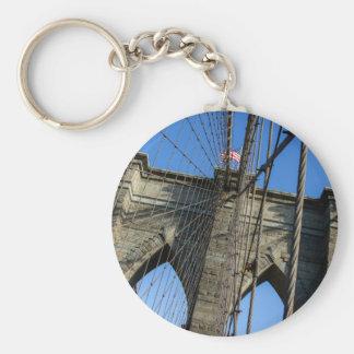 Puente de Brooklyn 02 Llavero Redondo Tipo Pin