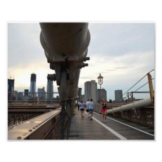 """Puente de Brooklyn 10"""""""" impresión de la foto x8"""