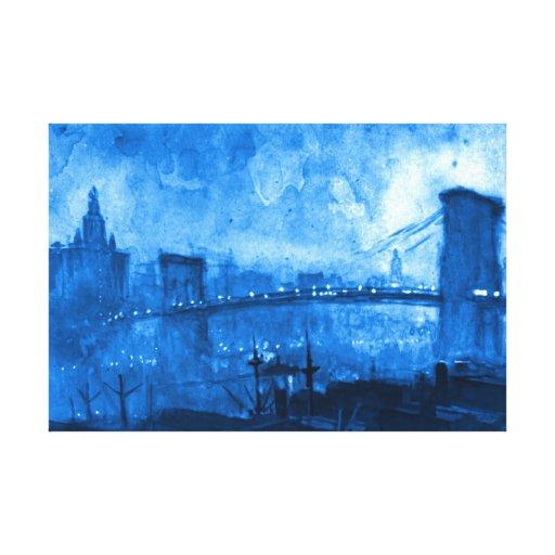 Puente de Brooklyn 1921 Lona Estirada Galerias