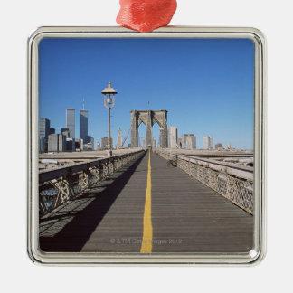 Puente de Brooklyn Adorno Navideño Cuadrado De Metal