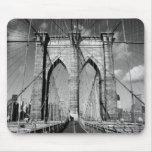 Puente de Brooklyn Alfombrillas De Ratón