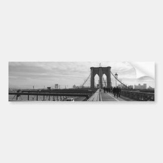 Puente de Brooklyn blanco negro - nr 1 de NY Nueva Pegatina Para Auto