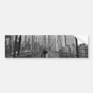 Puente de Brooklyn blanco negro - nr 2 de NY Nueva Etiqueta De Parachoque
