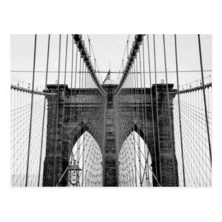 Puente de Brooklyn blanco negro Nueva York Postales