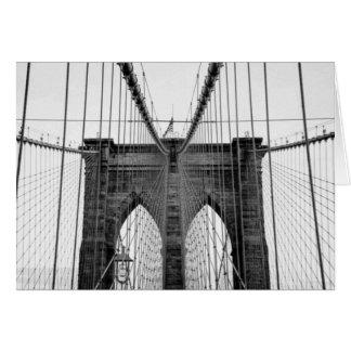 Puente de Brooklyn blanco negro Nueva York Tarjeta De Felicitación