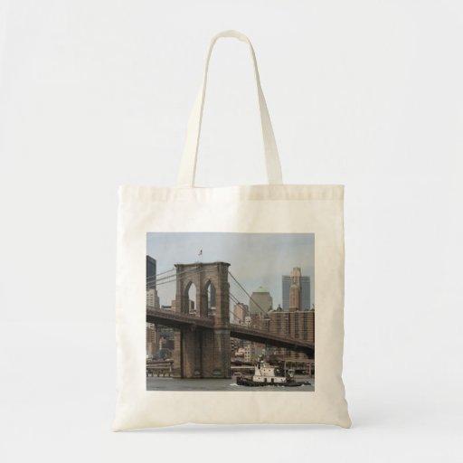 Puente de Brooklyn Bolsa Tela Barata