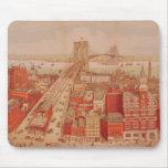 Puente de Brooklyn, c.1883 Tapete De Ratón